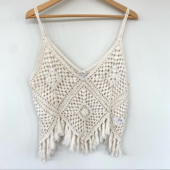 American Eagle crochet cropped camisole